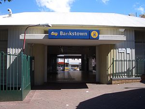 Bankstown railway station - Station front in November 2007