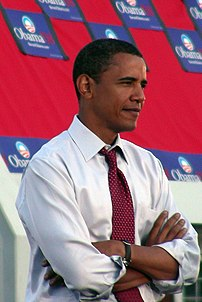 Barack Obama waiting as he was announced by DC...