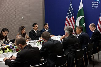 Cabinet Committee on National Security (Pakistan) - The DCC staffers chaired by Prime minister Yousaf Gillani meeting with President Barack Obama.