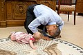 Barack Obama crawling with Ella Rhodes.jpg