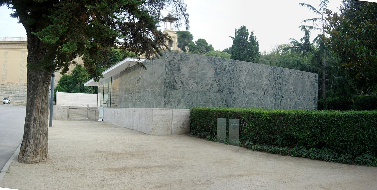 Barcelona pavilion exterior - Barcelona Pavilion Exterior File Barcelona Pavilion Exterior2 Jpg