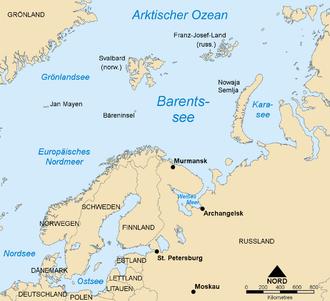 Nordpolarmeer Karte.Barentssee Wikipedia