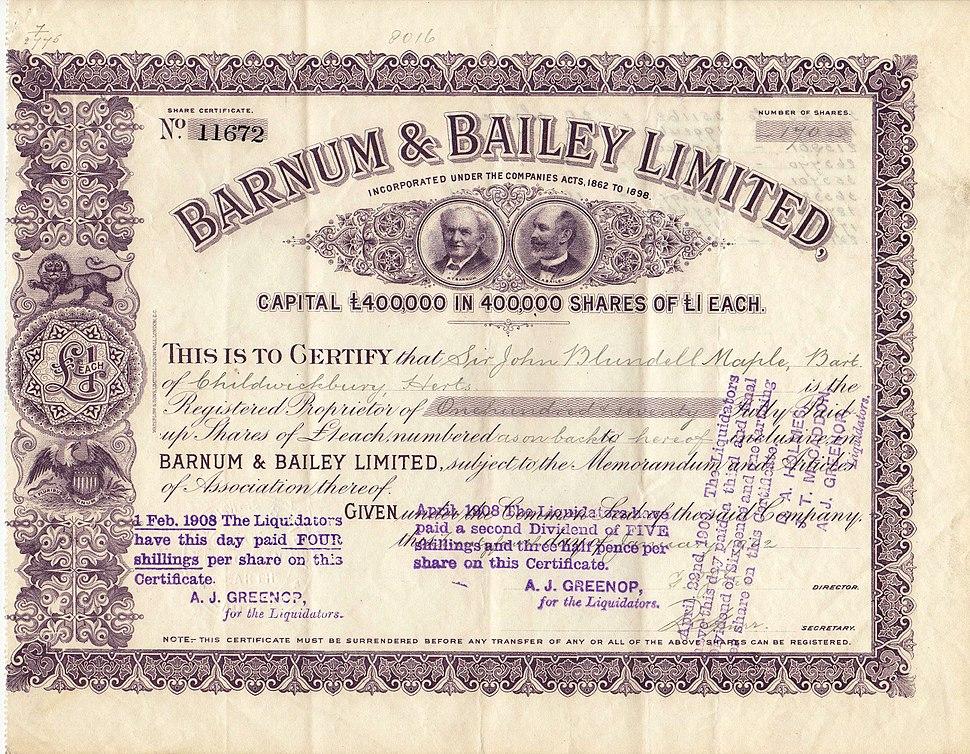 Barnum & Bailey 1902