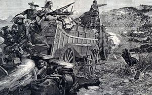 First Matabele War - Image: Battle of the Shangani