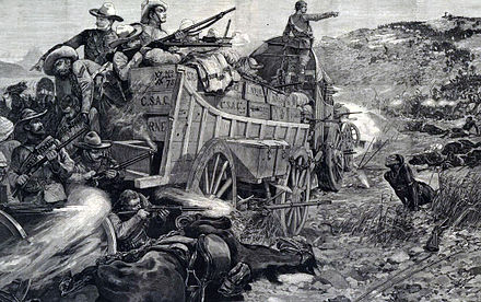 The Battle of the Shangani on 25 October 1893 Battle of the Shangani.jpg