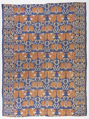 Charles Voysey (architect) - Textile design circa 1888