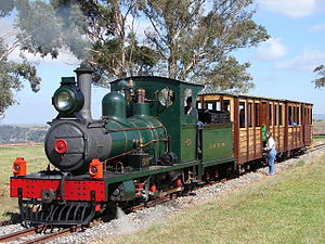 South African Class NG6 4-4-0 - Falcon F2, Beira Railway no. BR6, SAR no. NG106, restored as no. BR7, Sandstone Estates, 9 April 2006