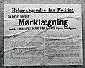 Bekendtgørelse om mørklægning, Danmark 1940.jpg