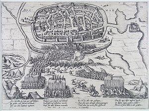 Siege of Alkmaar - Image: Beleg van Alkmaar 1573 (Frans Hogenberg)
