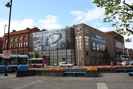 The former Belfast Telegraph headquarters Belfast Telegraph, July 2010 (01).JPG