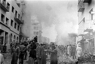 1948 in Mandatory Palestine - Car bomb explosion on Ben Yehuda Street, Jerusalem, 22 February 1948