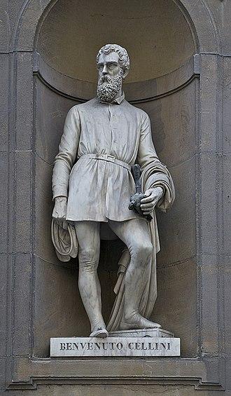 Benvenuto Cellini - Statue of Cellini, Piazzale degli Uffizi, Florence