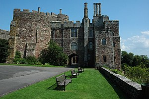 Berkeley Castle - Shell keep and inner gatehouse, viewed from the outer bailey