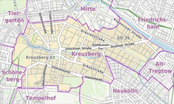 Kreuzberg - Wikipedia's Kreuzberg as translated by GramTrans