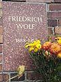 Berlin Friedrichsfelde Zentralfriedhof, Gedenkstätte der Sozialisten (Urnenwand) - Wolf, Friedrich 2.jpg
