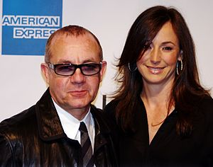 Bernie Taupin - Bernie Taupin and wife Heather, attending the premiere of The Union at the Tribeca Film Festival, April 2011