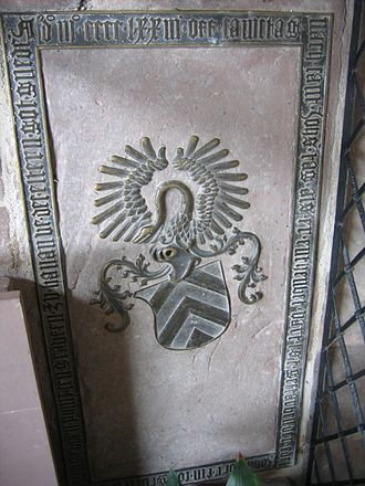 Philipp I, Count of Hanau-Lichtenberg - Gravestone of Johann of Hanau-Lichtenberg in the City Church in Babenhausen