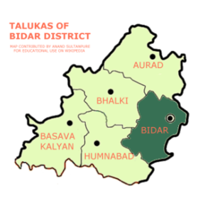 Bidar taluka - Map of Bidar Taluka in the Bidar District
