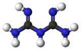 Ball and stick model of biguanide