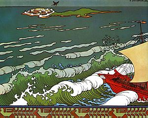 The Tale of Tsar Saltan - Image: Bilibin Flight of the Mosquito