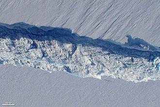 Pine Island Glacier - Birth of an iceberg.
