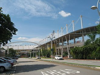 Singapore national football team - Image: Bishan Stadium and Sports Hall