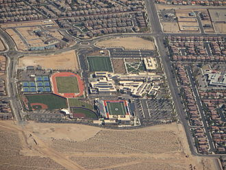Bishop Gorman High School - Aerial photo of Bishop Gorman, 2015
