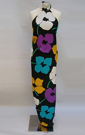 James Galanos - James Galanos halter floral full length gown. New York 1980s. PFF collection, Nafplion