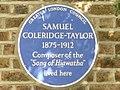Blue Plaque for Samuel Coleridge-Taylor, Dagnell Park, Selhurst - geograph.org.uk - 1466227.jpg