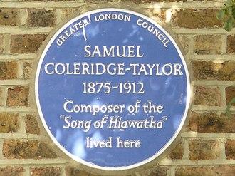 Samuel Coleridge-Taylor - Image: Blue Plaque for Samuel Coleridge Taylor, Dagnell Park, Selhurst geograph.org.uk 1466227