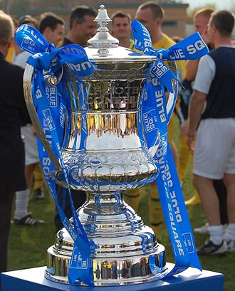 Southport F.C. - Conference North trophy awarded to Southport, 2009–10 season.