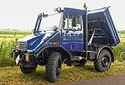 Blue Unimog 408 or 418 pickup truck