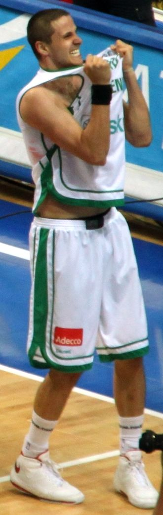 Boštjan Nachbar - Nachbar in Slovenian national team jersey
