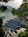 Boats and the lake at Pokhara.jpg