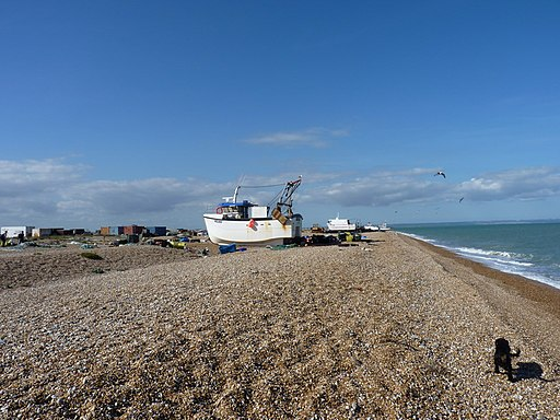 Boats on the shingle at Dungeness - geograph.org.uk - 2067113