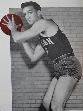 Bob Harrison (basketball) - Harrison from 1948 Michiganensian