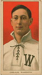Baseball card of Bob Unglaub