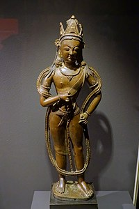 Bodhisattva Vajrapani, India, western Himalayas, 12th-14th century AD, bronze - Linden-Museum - Stuttgart, Germany - DSC03834.jpg