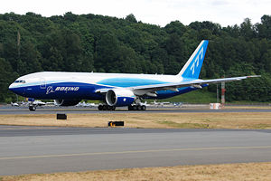 Boeing Everett Factory - A Boeing 777 Freighter before a test flight