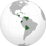 Bolivarian Alliance for the Peoples of Our America (orthographic projection).svg