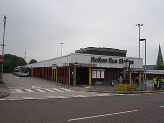 Bolton bus station - The old bus station, situated on Moor Lane
