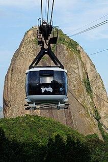 Sugarloaf Cable Car cableway in Rio de Janeiro, Brazil