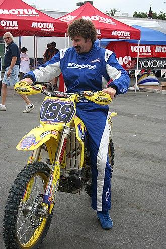 Boris Said - Said tests Travis Pastrana's motocross bike at X-Games 13