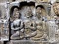 Borobudur - Divyavadana - 065 W, King Bimbisara receives King Rudrayana's Letter (detail 2) (11706660903).jpg