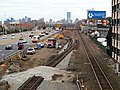 Boston Landing track work east of Everett Street, November 2015.JPG