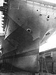 Bow view of USS Yorktown (CVS-10) in dry dock at Long Beach Navy Yard in 1967.jpg
