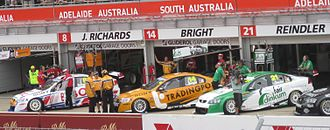 Brad Jones Racing - The team's three Holden VE Commodores at the 2010 Clipsal 500.