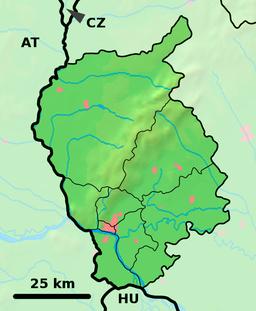 Situo enkadre de Regiono Bratislavo