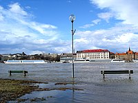 Bratislava doesn't usually experience major floods, but the Danube sometimes overflows its right bank.
