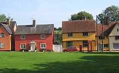 Bright cottages lining the green at Hartest - geograph.org.uk - 971518.jpg